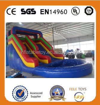 Summer Hot Sale best quality tropical combo waterslide inflatable