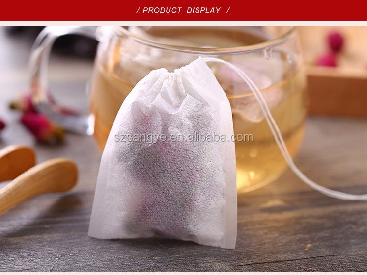 cheap filter paper tea packaging bags with string