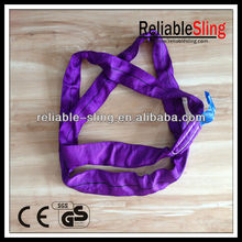 "customized 1"" polyester pipe lifting slings, simplex/duplex round sling with competitive price"