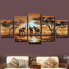2017 diy 5pcs set mosaic full diamond embroidery elephant animals 3d diamond painting cross stitch square drill multi-pictures