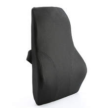 Portable Orthopedic Dustproof Washable Car Backrest Lumbar Pillow Memory Foam Back Support Cushion