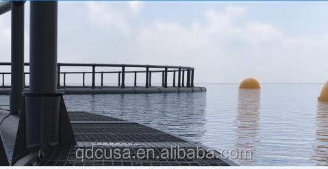 HDPE floating fish trap for deep sea