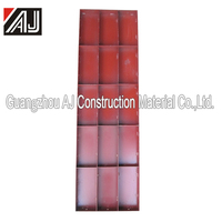 Traditional orange dark red blue steel wall formwork for concrete structure