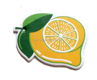 promotional advertising fruit scented hanging custom paper car freshener