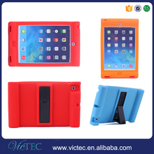 Cartoon kids proof silicone protective tablet case with handle for iPad mini 4