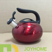 half nylon handle cheap red stainless steel kettle