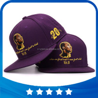 Original top quality brand Kobe snapback good embroidery cotton hip hop cap flat bill baseball cap for men and women