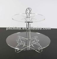VC-158 2 tier acrylic wedding and party cake stand,cake holder