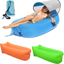 Fill Air Sofa Bed Lazy Lounger Chair Fast Inflatable Camping Air Sleeping Bag