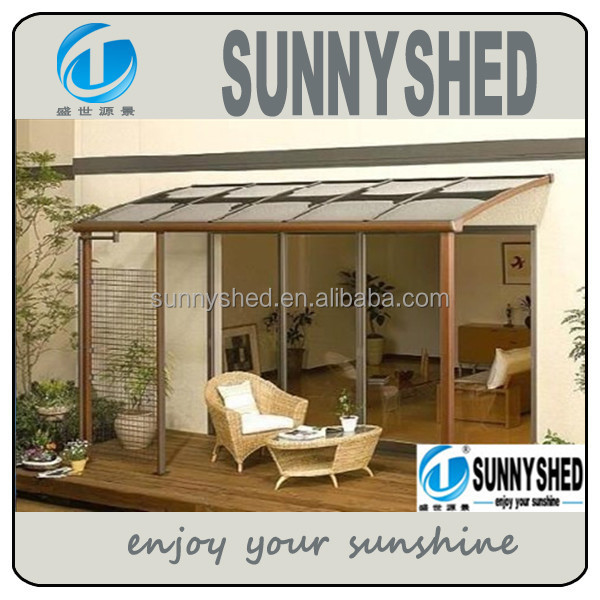 diy aluminum frame polycarbonate patio cover by sunnyshed