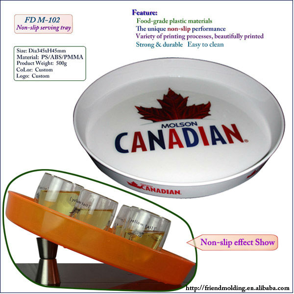 New wholesale Anti-slip plastic bar serving tray