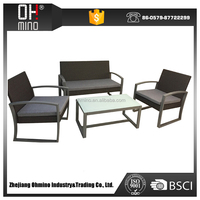 outdoor rattan classic recliner chesterfield sofa cup holder
