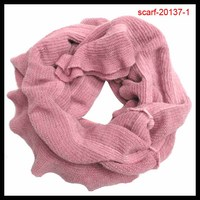 popular lovely girl winter knitted acrylic scarf factory in knit town