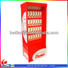High quality Pen promotion display cardboard stand / corrugated stand display shelf