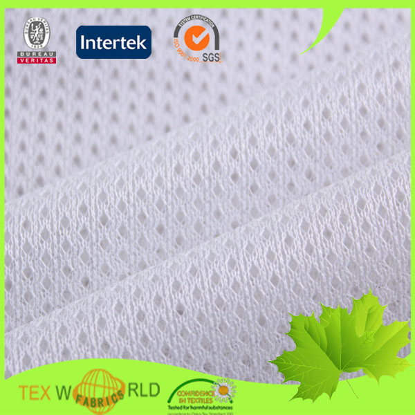 High quality warp knitted polyester mesh football jersey fabric