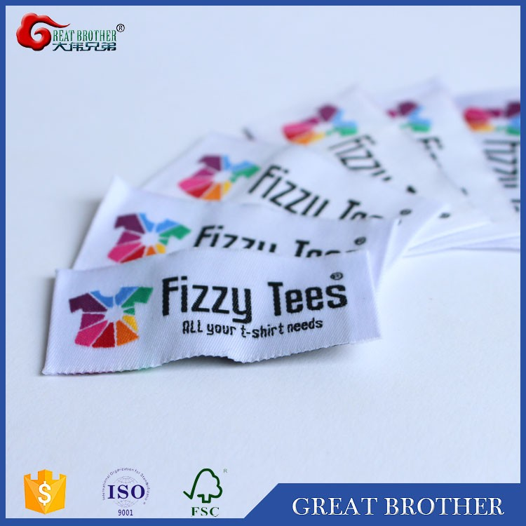 Custom Cheap High Quality Folded Fabric Woven Label for Clothing