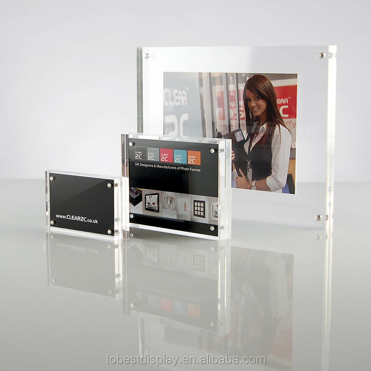 china acrylic block picture frames