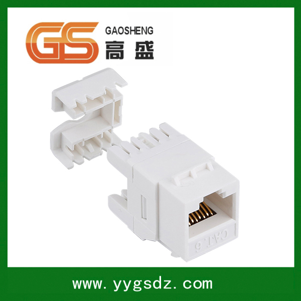Best sale made in china 90 Degree Cat6 Punch Down 110 Type Keystone Jack