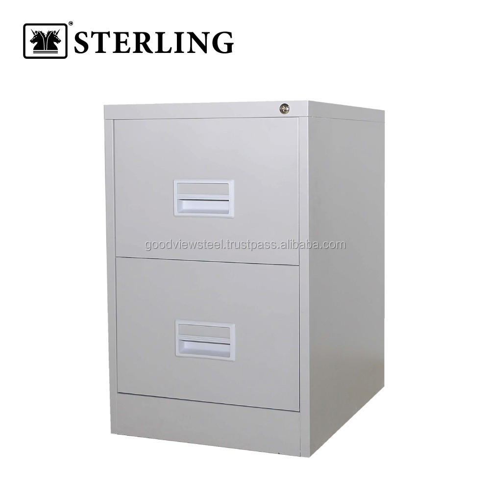 Filing Cabinet with Recess Handle - 2 Drawer