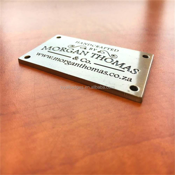 metal name plate for furniture