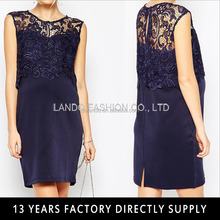 Navy color crochet tops evening dresses for pregnant women