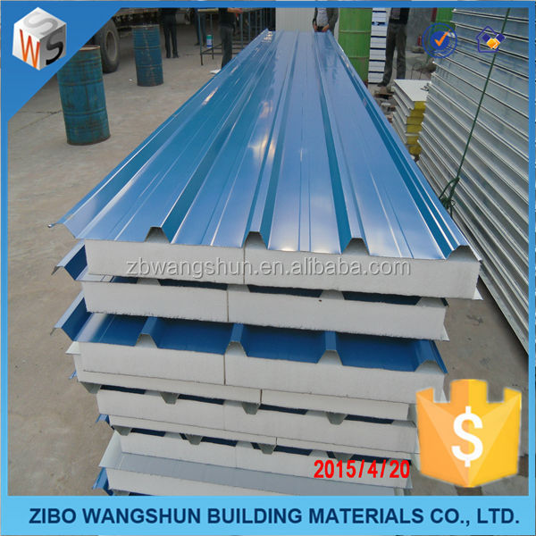 Metal Insulated Polystyrene Corrugated Roof Sandwich Panel Factory Price EPS sandwich panel
