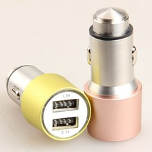 Mobile phone dual port 12v qc 2.0 mini usb car charger socket battery charge 12v 24v 36v 48v