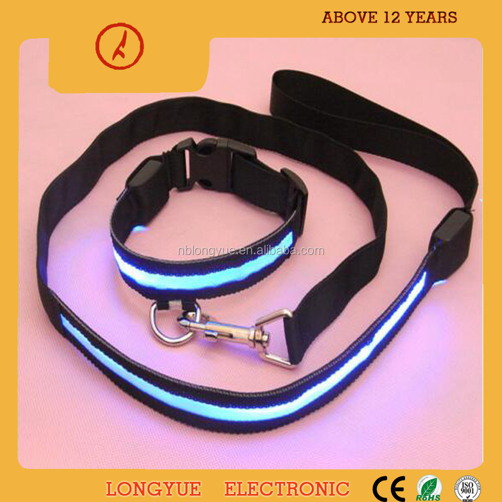 Eco-friendly pet trainning goods nylon dog collars and leashes