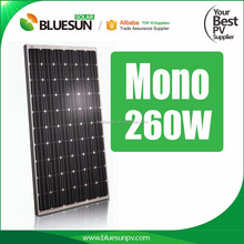 High quality gy solar panel black 260w mono 60 cell 260w solar photovoltaic module