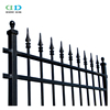 Quality black powder coat steel picket tubular road wrought iron fences from DD Fence