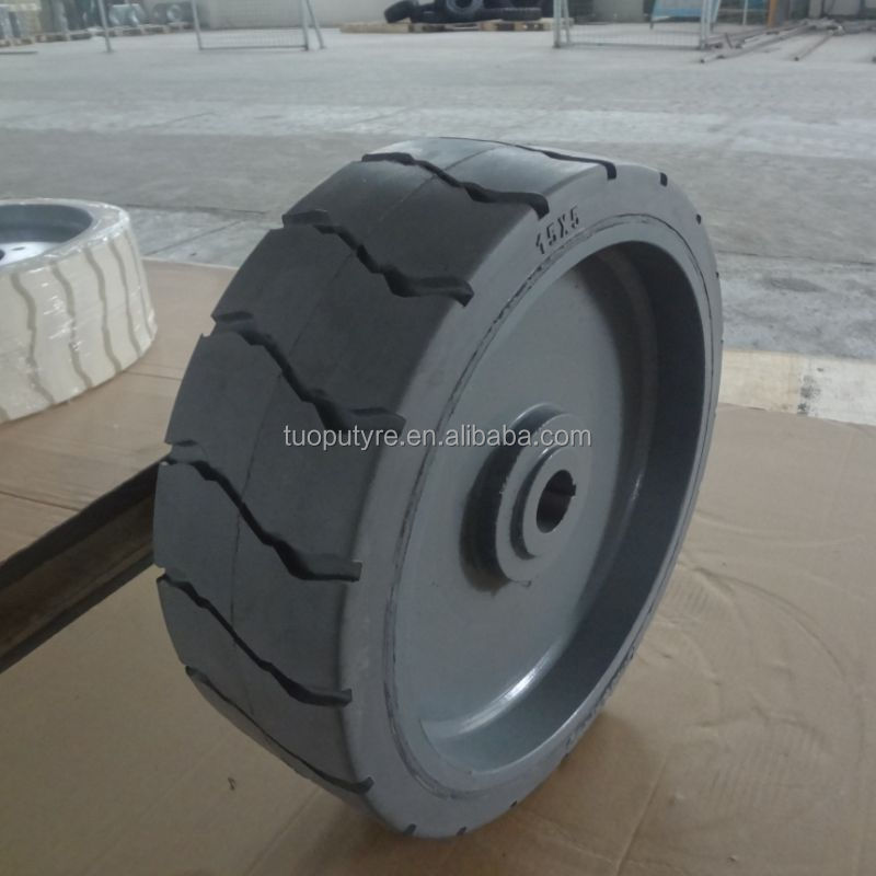 15x5 10x3 12x4 12x4.50 industrial rubber tires mould on solid tire aerial work platform lift wheel