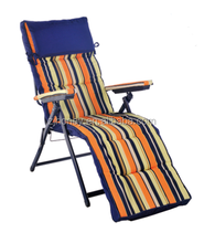 steel frame folding camping chair with footrest