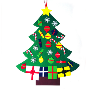 wholesale Amazon hot artificial decoration felt christmas tree in china