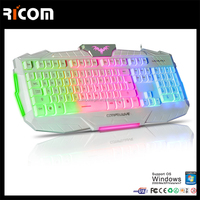 Ricom Rainbow laptop backlit keyboard,Rainbow usb led backlit keyboard,Rainbow backlit gaming keyboard---LK612--Shenzhen Ricom