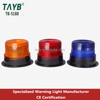 5188 Solar Strobe Warning Light Control Work Zone Traffic Strobe Beacon Lamp