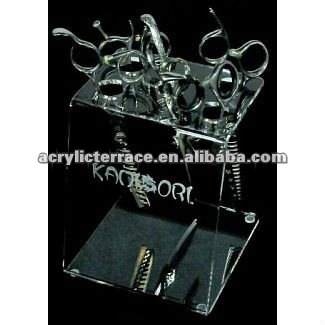 design lucite 5 pcs Scissors holder display