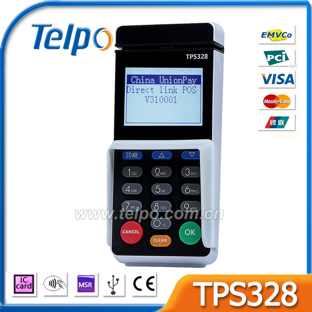 Telpo Wholesale TPS328 EMV/PCI certified fiscal MPOS with pinpad
