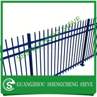 alibaba express Green coated welded metal fencing panels /Green powder garden fencing