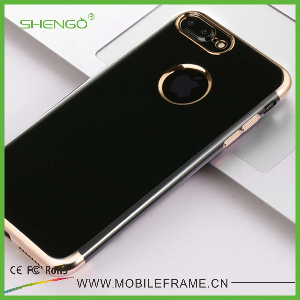 Wholesale Customized Blank Black Back Cover Soft Shell 3D Laser Cellphone TPU Case for iPhone 7