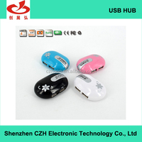 Mouse-shape usb 2.0 hub for business gift, 4 por 2.0 usb hub from CE/ROHS/FCC certification manufacturers