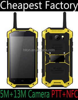 Factory Low Cost 4G 3G 4.7inch NFC Mobile Phone With NFC SOS PTT Android Rugged Phone with NFC