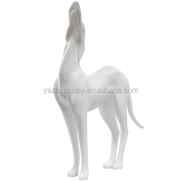 2015 New display realistic display fiberglass wholesalers dog mannequin