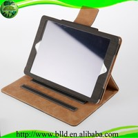 Factory low MOQ Wood grain design leather tablet case for ipad 5 case