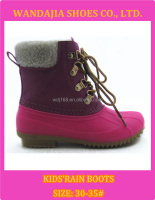 Child New Bright Active Ankle Snow Boots Kids Winter Boots