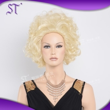newest design high quality enhances comfort trendy fluffy short blonde curly hair wigs
