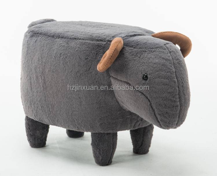 JX1402 Standard funny interesting sheep shape small sitting stool for child kids ottoman seat for change shoes