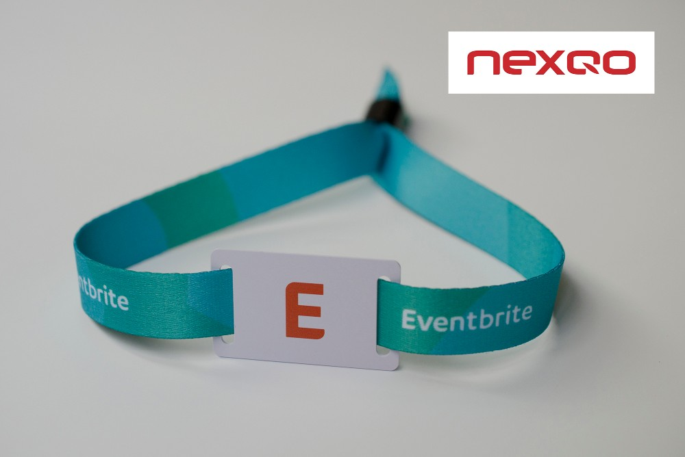 NFC disposable HF fabric woven rfid wristband for festival party event