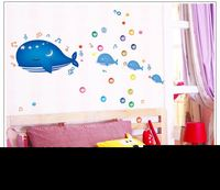 DIY Carton Self Adhesive PVC Removable Wall Stickers/House Interior Decoration PicturesBottlenose Dolphin for Kids Room 7018