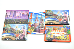 Super strong 3d effect lenticular fridge magnet for sale with customize animal scenery picture
