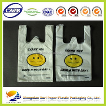 custom design clear emoji printing bag shopping bags